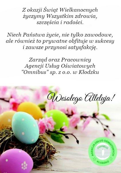 Życzenia 2019 Wielkanoc